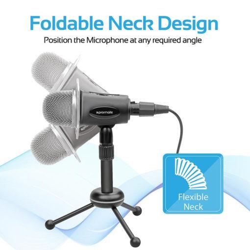 Promate Professional Desktop Condenser Microphone
