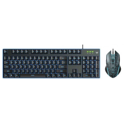 Rapoo V100S Backlit Gaming Keyboard & Optical Gaming Mouse