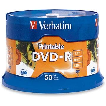 Verbatim Printable DVD-R 50 Pack