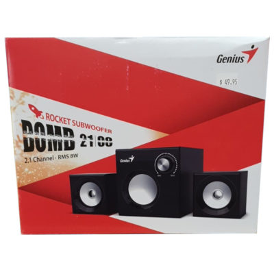 Genius Rocket Subwoofer Bomb 21 00 2.1 Channel Speakers