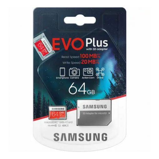 Samsung EVO Plus 64GB SD Card with SD Adapter